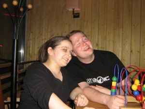 Harald and Lydia at the karaoke bar